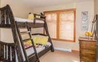Bedroom 4 with Single over Double Bunk Beds.