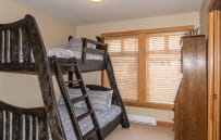 Bedroom 3 with Single over Double Bunk Beds.