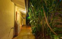 Tropical outside shower