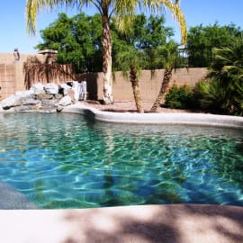 Private pool with optional pool heat