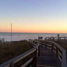 Boardwalk leading to the beach from Summerhouse Condominiums in Orange Beach, AL