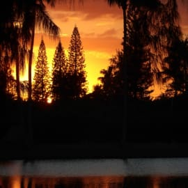 The Most incredible Sunsets, sitting and relaxing on the Lanai