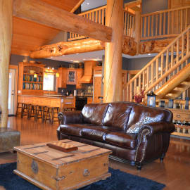 Incredible timber posts and beam from locally sourced BC timber.