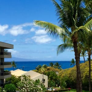 View from the lanai--enjoy meals with an ocean view--see whales in winter