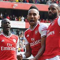 Auba: All three Arsenal strikers will...