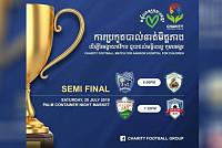 The football tournament helps Angkor...