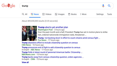 The Google News tab in Search is bein...