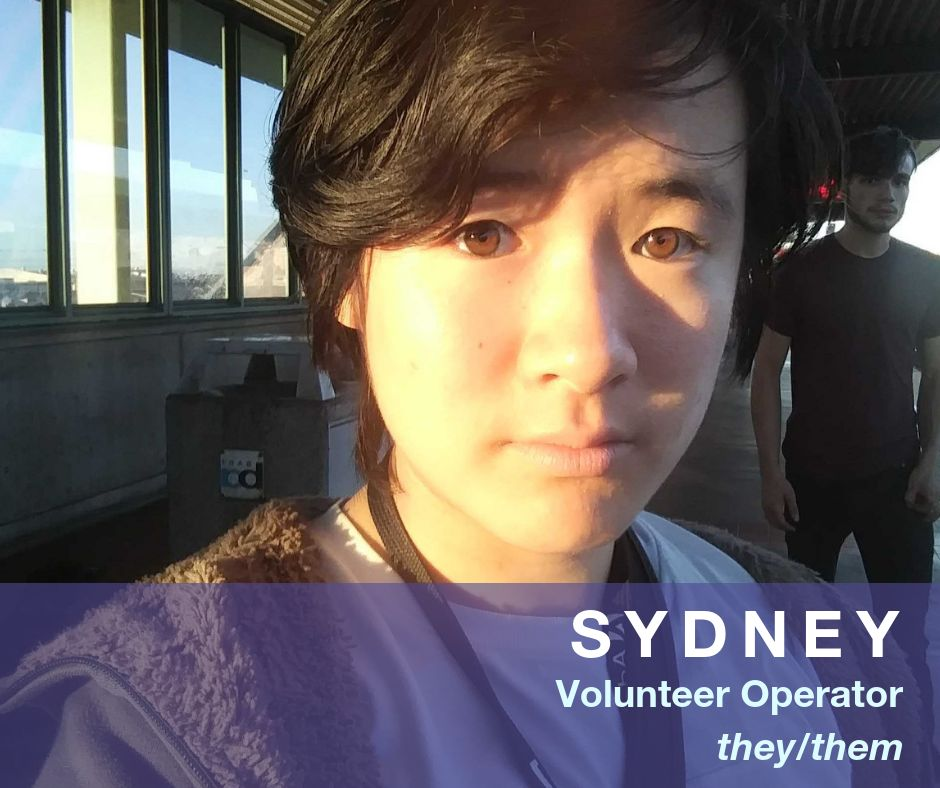 Image of Sydney - Volunteer Operator - they/them