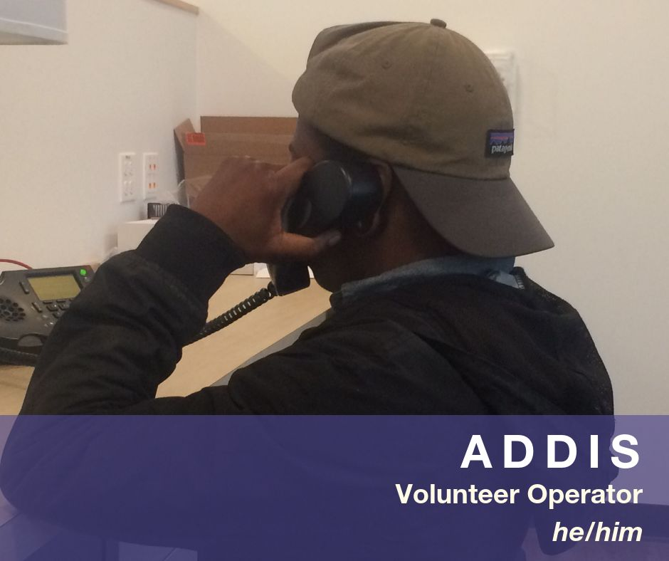 Image of Addis - Volunteer Operator - he/him