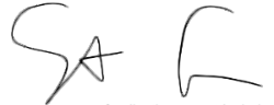 Signature of Sam Ames