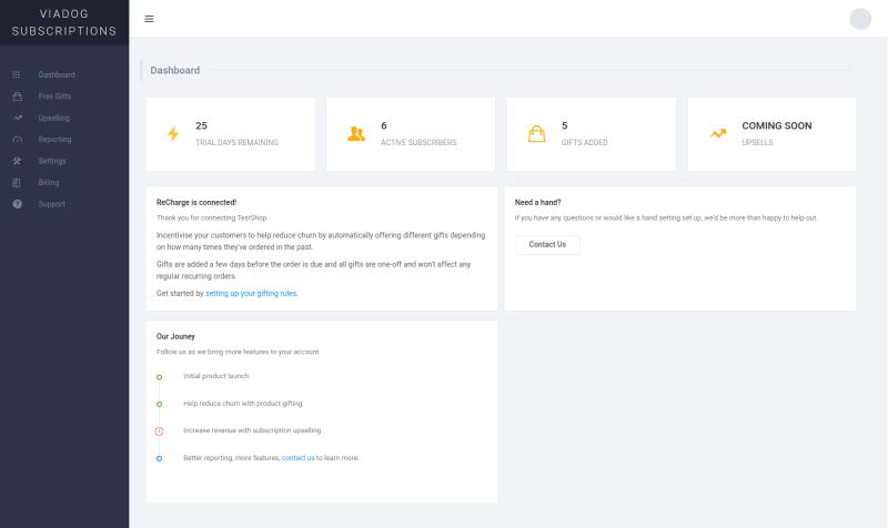 Viadog Subscriptions preview screenshot