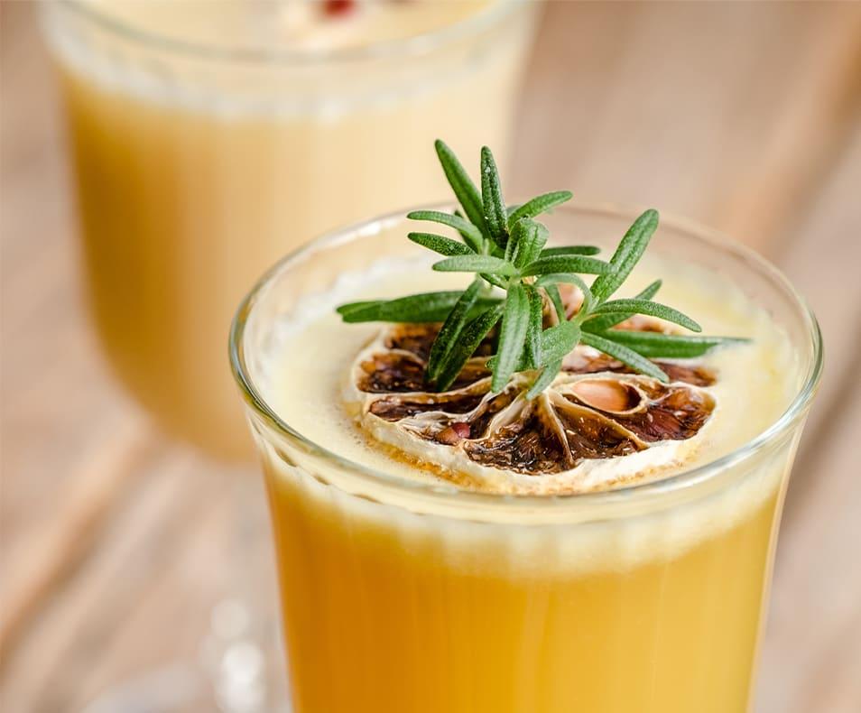 RumHaven Mimosa & Dried Orange Slices