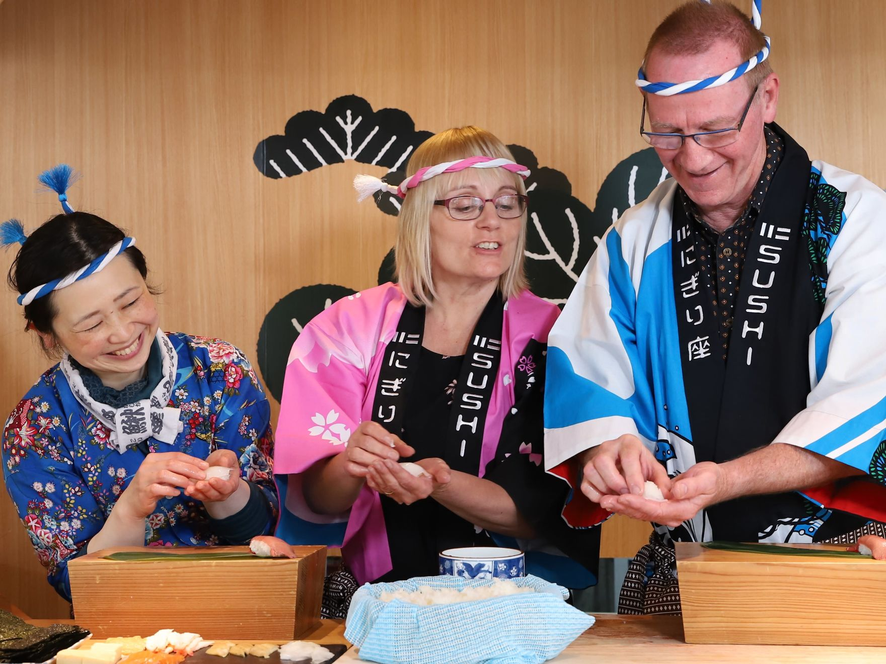 Hiroshima Sushi Making Experience Wearing Happi & Hachimaki - 1