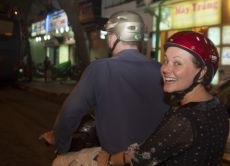 Ride and Eat Through Saigon After Dark (On Vintage Vespa)