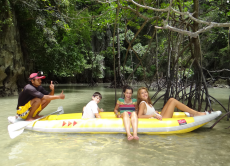 Canoe around James Bond island in Phang Nga Bay