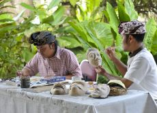 Paint Your Own Traditional Balinese Mask