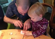 Make your own chopsticks and learn manners through games