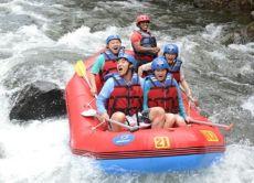 Refreshing White Water Rafting at Telaga Waja River