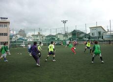 Play soccer with Japanese locals