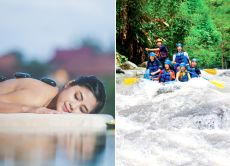5% OFF One Day Package - White Water Rafting + Spa