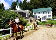 Horse riding lesson & trekking in the Japan Alps
