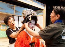 Take a guided tour of a Kabuki playhouse in Gifu