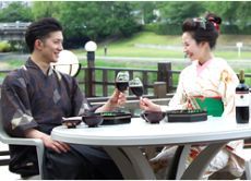 Special Tour in Kyoto: Historical Costume & Riverside Dinner