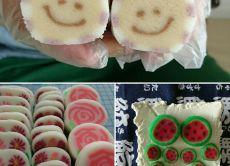 Make Decorated Mochi Rice Cakes (Decomochi) near Nagoya