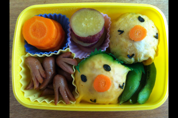 Learn How to Make Japanese Kid's Lunch Box :Kyaraben - 4