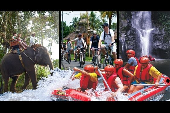 Full Day Tour: Village Cycling + Elephant Trek + Rafting  - 0