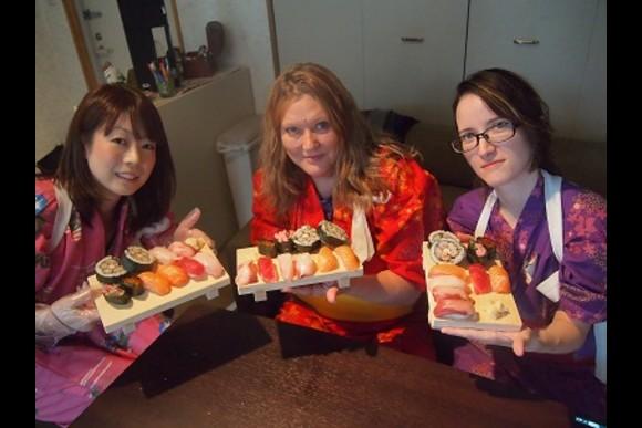 Make Sushi in Traditional Japanese Dress, Yukata - 0