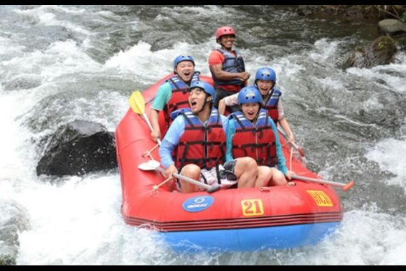 Refreshing White Water Rafting at Telaga Waja River - 0