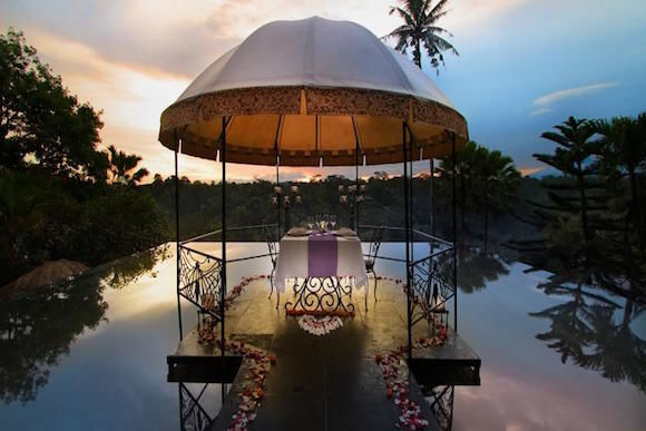 indonesia bali activities twilight romantic dinner ubud around
