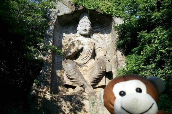 Hike a mountain with a Large Buddha & explore a Sacred Cave! - 0