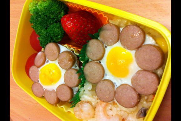 Learn How to Make Japanese Kid's Lunch Box :Kyaraben - 2
