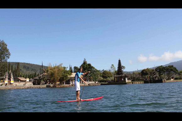 Enjoy Stand-Up Paddling on a Lake in Bali - 0