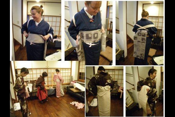 Learn to Wear a Traditional Kimono in Meguro, Tokyo - 2