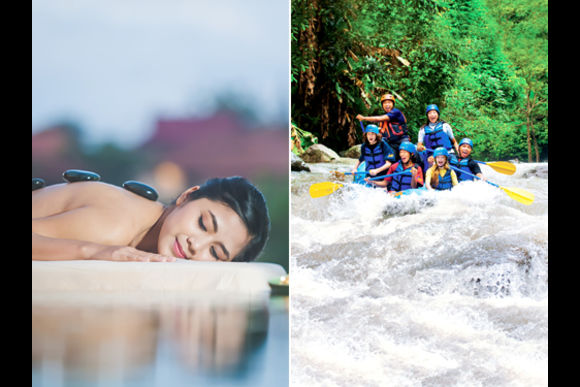 5% OFF One Day Package - White Water Rafting + Spa - 3