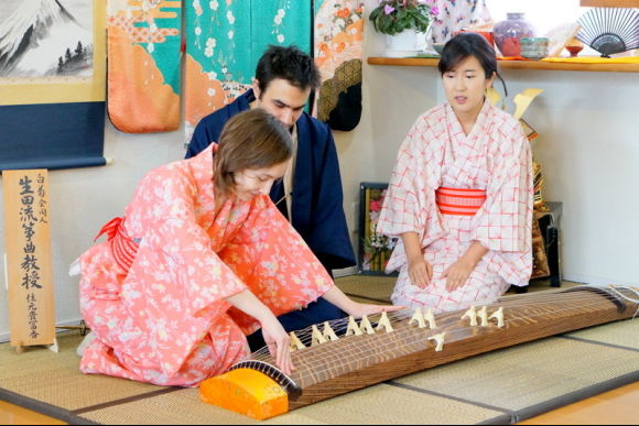 Enjoy Koto and Sanshin lessons & tea ceremony experience! - 0