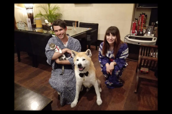 Dine or Drink with the Affectionate Akita Dog in Tokyo - 0