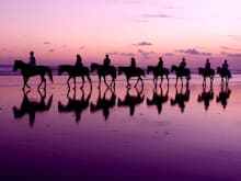 Go horse-riding on a sparkling beach