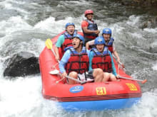 Refreshing White Water Rafting at Telaga Waja River