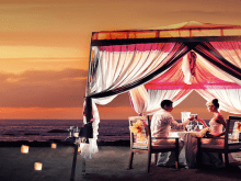Romantic Candlelight Dinner On The Beach Around Kuta