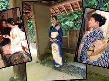 Dress in a real silk Kimono near Nagoya