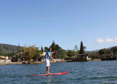 Enjoy Stand-Up Paddling on a Lake in Bali