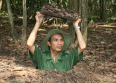 Ride on a speedboat and visit the Cu Chi Tunnels