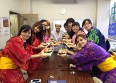 Make Sushi in Traditional Japanese Dress, Yukata