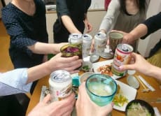 "Japanese style home drinking party ""Takunomi"""