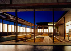 Visit a well-designed hot spring in Busshozan, Shikoku