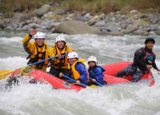 Join a rafting adventure tour in Hayakawa village, Yamanashi